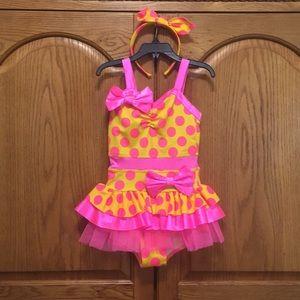 Weissman Jazz Dance Costume Size SC (6/6X)